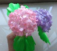 缎带烧花--紫阳花的制作教程