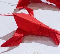 小龙虾的折纸方法