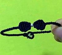蝴蝶结手链的编法教程