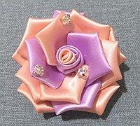 手工DIY丝带玫瑰花的教程