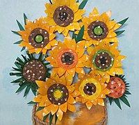 一次性纸杯制作太阳花