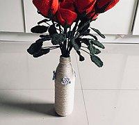 麻绳改造矿泉水瓶变身清新小花瓶