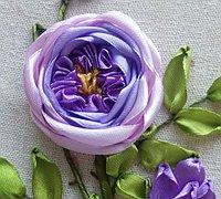 奥斯汀玫瑰丝带绣的绣法