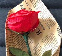 皱纹纸玫瑰花的制作方法