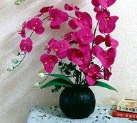 废纸盒和粘土diy美丽的花艺摆件