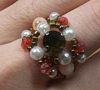 串珠花朵戒指手工教程