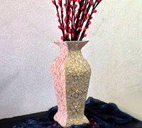废纸盒制作花瓶