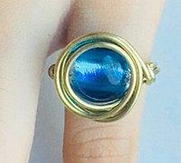 琉璃珠戒指diy教程