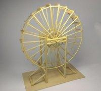 用竹签制作水车模型