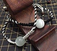 黑白色时尚手绳编法